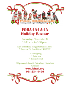 FOHA-La-La-La 2014 Holiday Bazaar @ East Smithfield Neighborhood Center | Smithfield | Rhode Island | United States