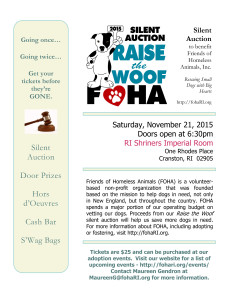 Raise the Woof 2015 Silent Auction @ Imperial Room at Rhodes Place | Cranston | Rhode Island | United States