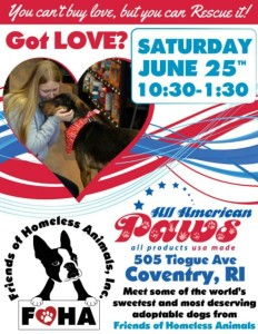 Got Love? Adoption Event @ All American Paws | Coventry | Rhode Island | United States