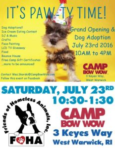 Camp Bow Wow Grand Opening Celebration @ Camp Bow Wow | West Warwick | Rhode Island | United States