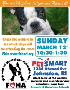 Find a Friend Adoption Event @ Petsmart | Johnston | Rhode Island | United States